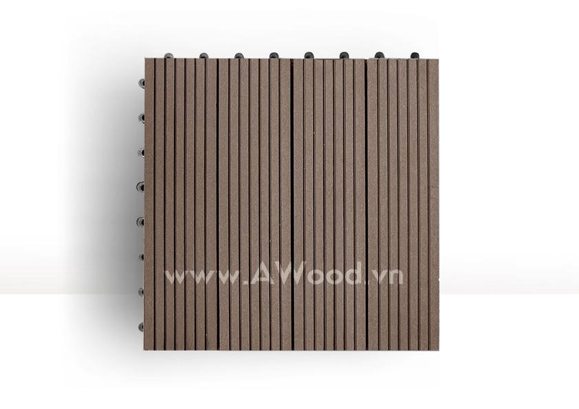 Vỉ gỗ nhựa DT01 màu coffee