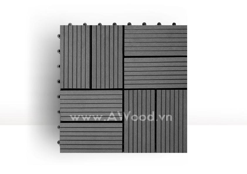 Vỉ gỗ nhựa DT02 màu xám