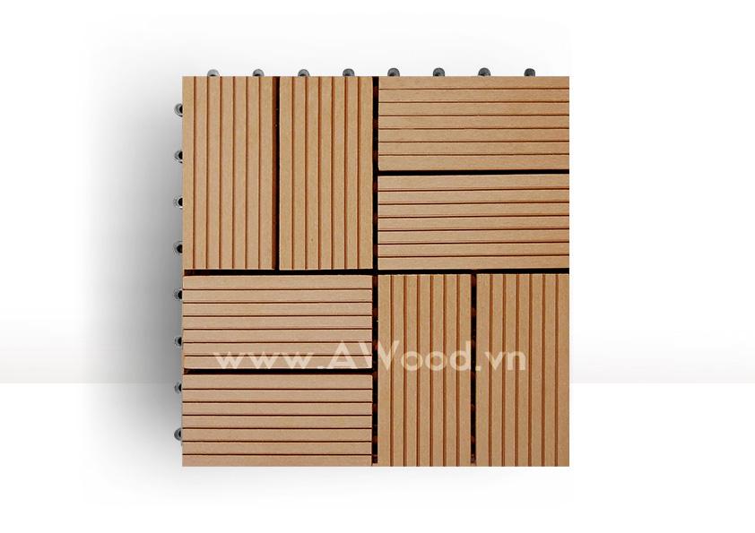 Vỉ gỗ nhựa DT02 màu gỗ