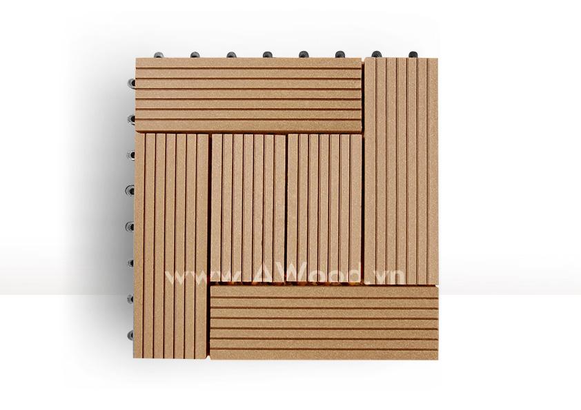 Vỉ gỗ nhựa DT03 màu gỗ