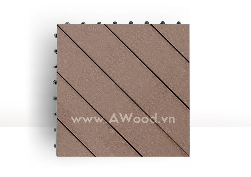 Vỉ gỗ nhựa DT04 màu coffee