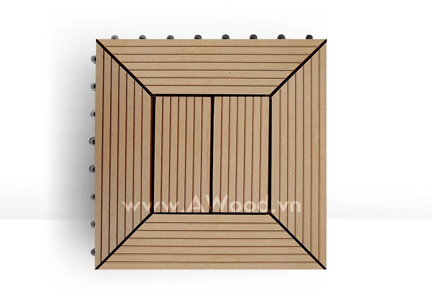 Vỉ gỗ nhựa DT05 màu gỗ