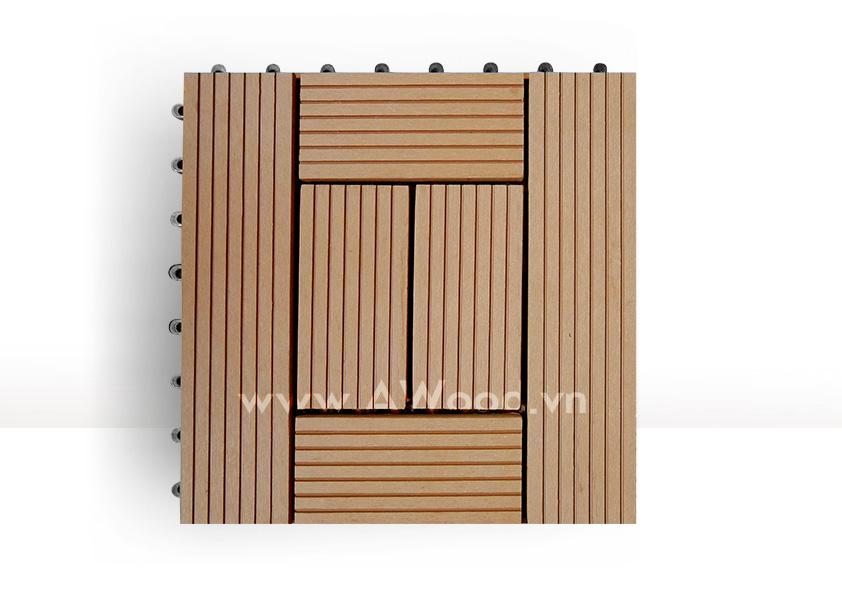 Vỉ gỗ nhựa DT06 màu gỗ