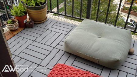 Không gian sống xanh với vỉ gỗ nhựa AWood lót sàn