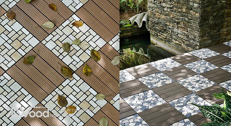 Vỉ gỗ nhựa AWood trang trí sân thượng view đẹp