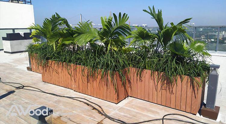 Chậu hoa gỗ ngoài trời AWood – Nét sáng tạo trong trang trí ngoại thất sân vườn