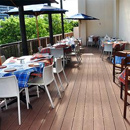 Sàn gỗ nhà hàng - quán ăn