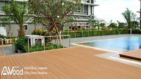Góc thư giãn mát mẻ trong ngày hè nắng nóng cùng gỗ nhựa AWood