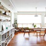 Căn hộ tiện nghi sang trọng với sàn gỗ công nghiệp lót sàn.