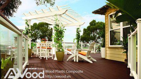 Thi công + Trang trí giàn hoa gỗ cho sân vườn, sân thượng, biệt thự, nhà phố…
