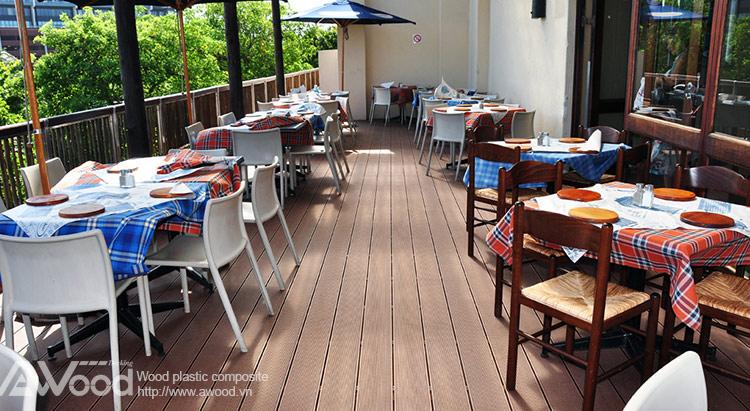 lót sàn nhà hàng & quán ăn