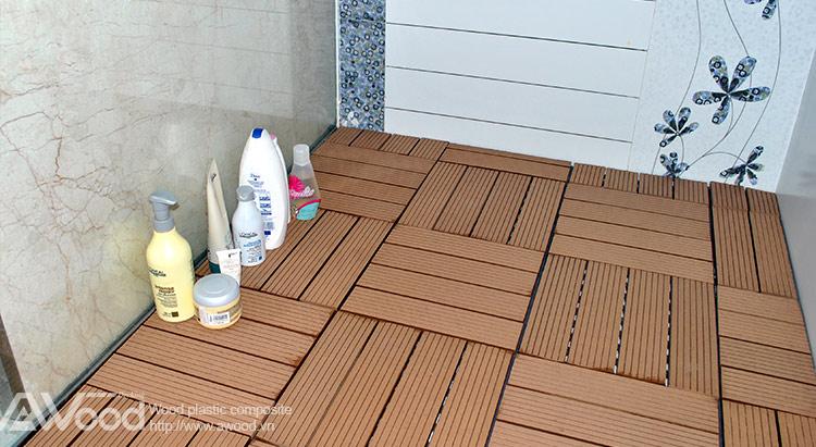 Vỉ gỗ nhựa AWood lót sàn phòng tắm