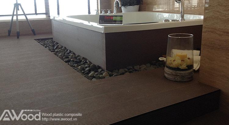 Gỗ nhựa AWood lót sàn phòng tắm